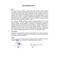 thumbnail of RPKL Procurement Policy